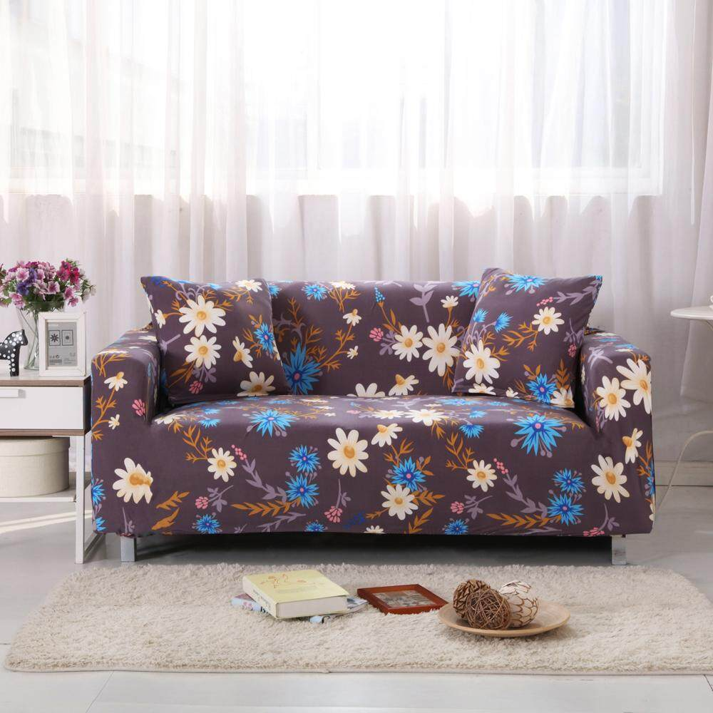 cover my furniture. YM Fashion 2 Person Sofa Cover, Coffee Color Small Chrysanthemum Four Season General, Compact Cover My Furniture