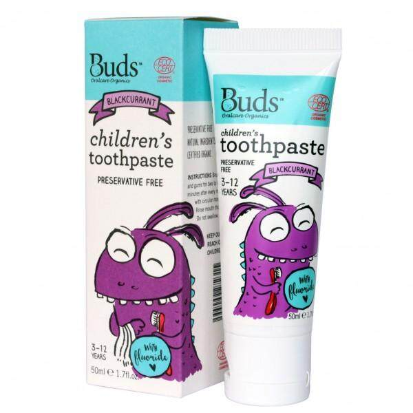 Buds Oralcare Organics Children's Toothpaste With Fluoride 50ml (3-12yrs old)