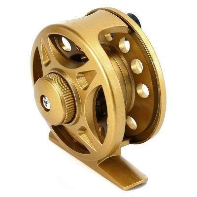 LIE YU WANG 1 + 1BB Ice Flying Raft Fishing Fly Fish Reel Wheel (GOLDEN)