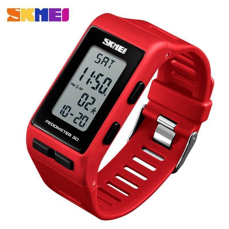 SKMEI 1363 Men Digital Wrist Watch Rectangle Sport Watches Pedometer Calories Digital Ladies Outdoor Anti-Diving Night Light Waterproof bán chạy