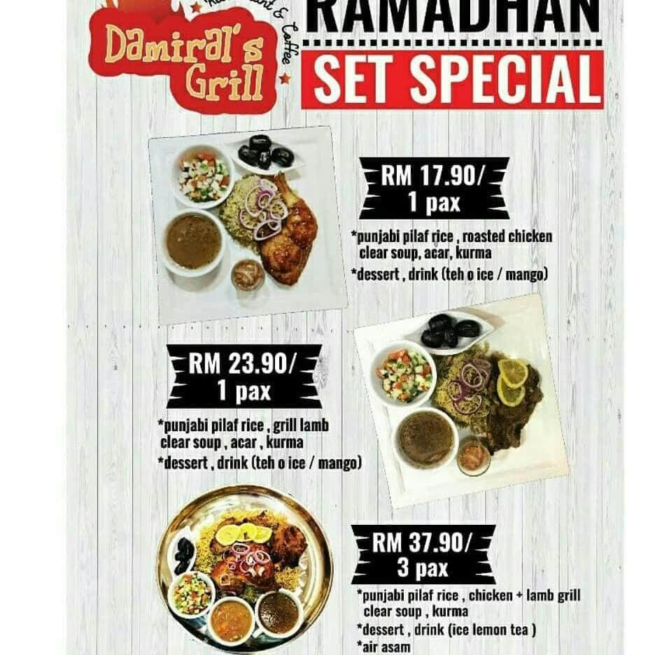 DAMIRAL GRILL RAMADHAN SET SPECIAL FOR 3 PAX - 15% OFF (PENANG)