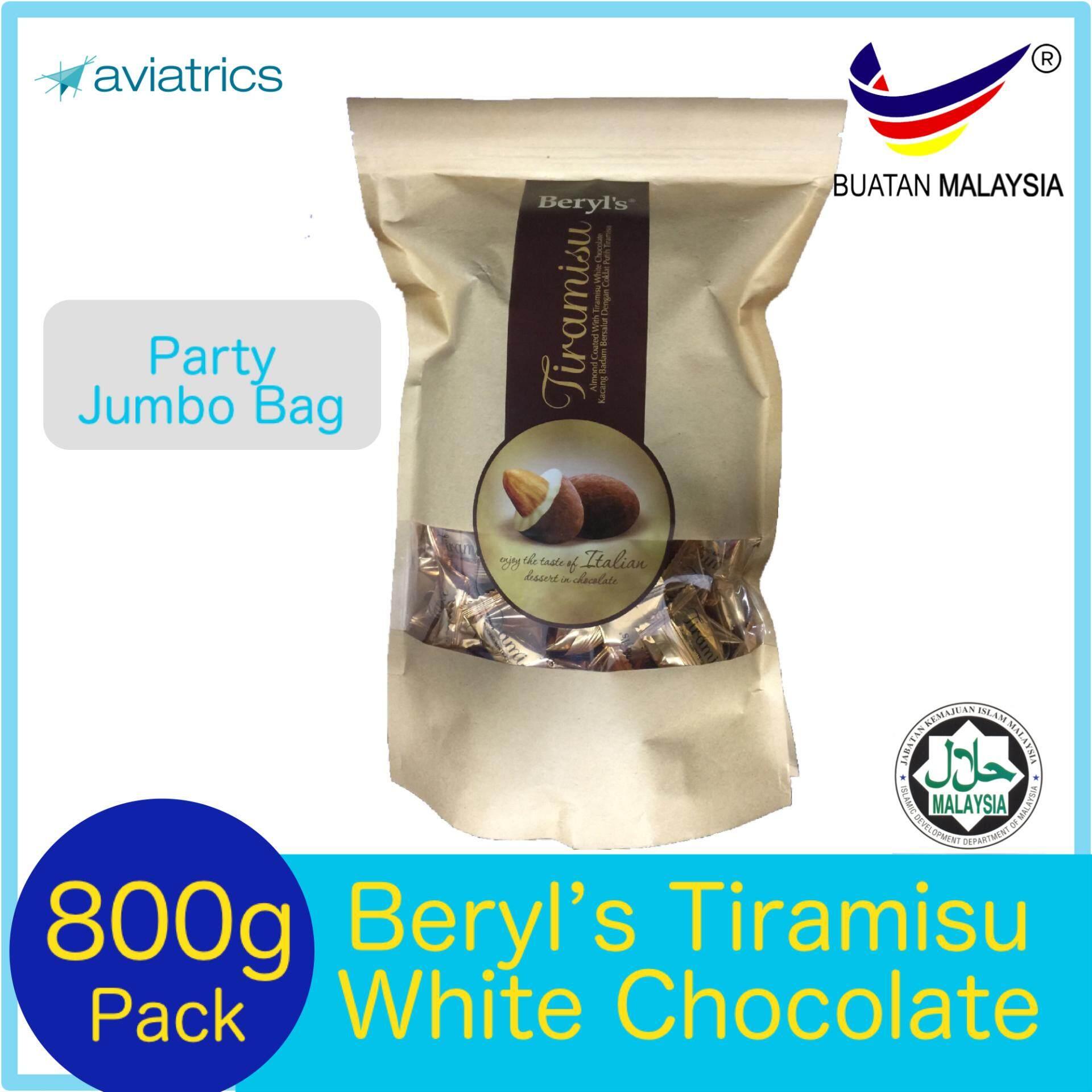 Beryl's Tiramisu White Chocolate with Almonds 800g (Made in Malaysia)