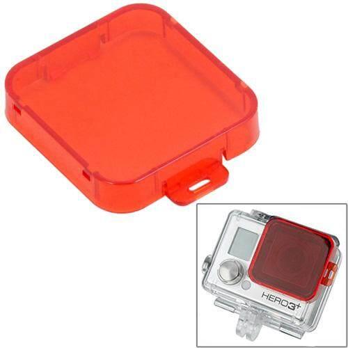 Snap-On Filter Menyelam Perumahan untuk HD GoPro HERO 4/3 +, ST-132 (Merah)-Intl