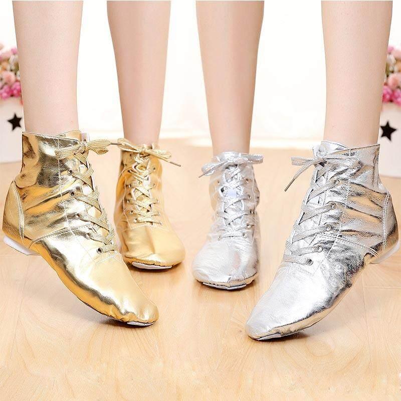 Detail Gambar Musim Semi Wanita Pu Jazz Sepatu Olahraga Menari Sepatu Tumit Lembut Balet Samba Rumba