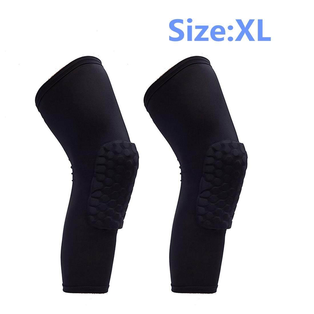 YBC 2Pcs Outdoor Sports Kneepad Honeycomb Knee Pads Leg Protective Pad - intl