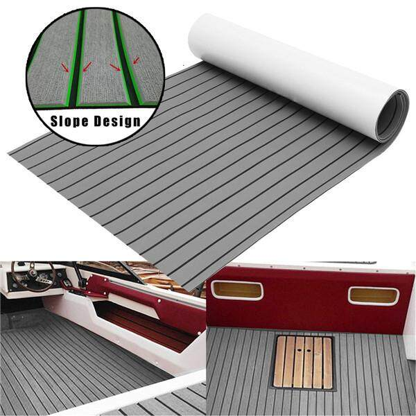 Hình ảnh 60x240cm EVA Foam 6mm Gray With Black Strip Faux Teak Boat Decking Sheet