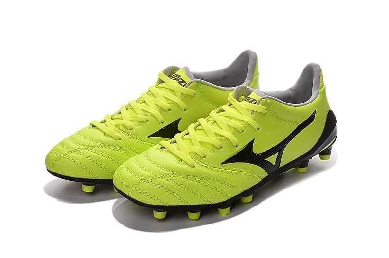 Football Mizuno Morelia Neo KL MD FG Football Shoes Men's Mizuno NEO II FG Soccer Cleats Yellow/Black - intl