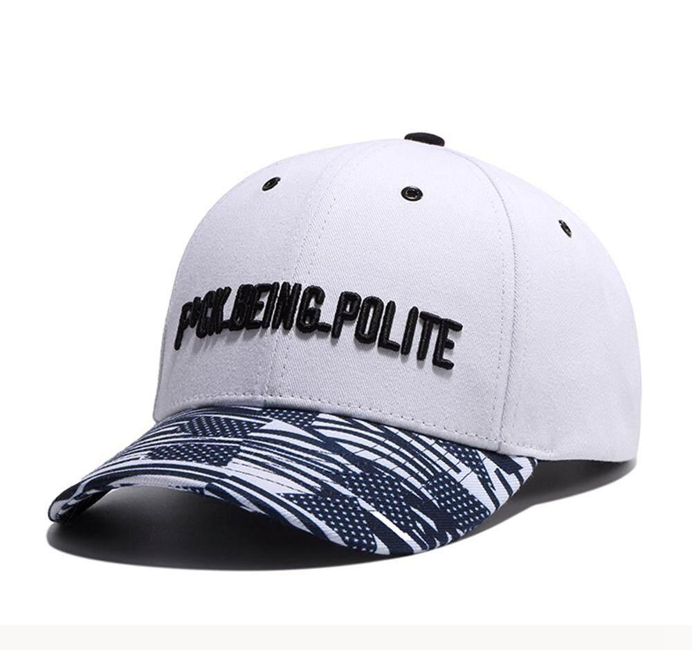 Fashion Surat Bordir Bisbol Katun Topi untuk Pria Wanita Olahraga Hip Hop Topi Sun Hat Datar Dapat Disesuaikan W710 Fitur:-Intl