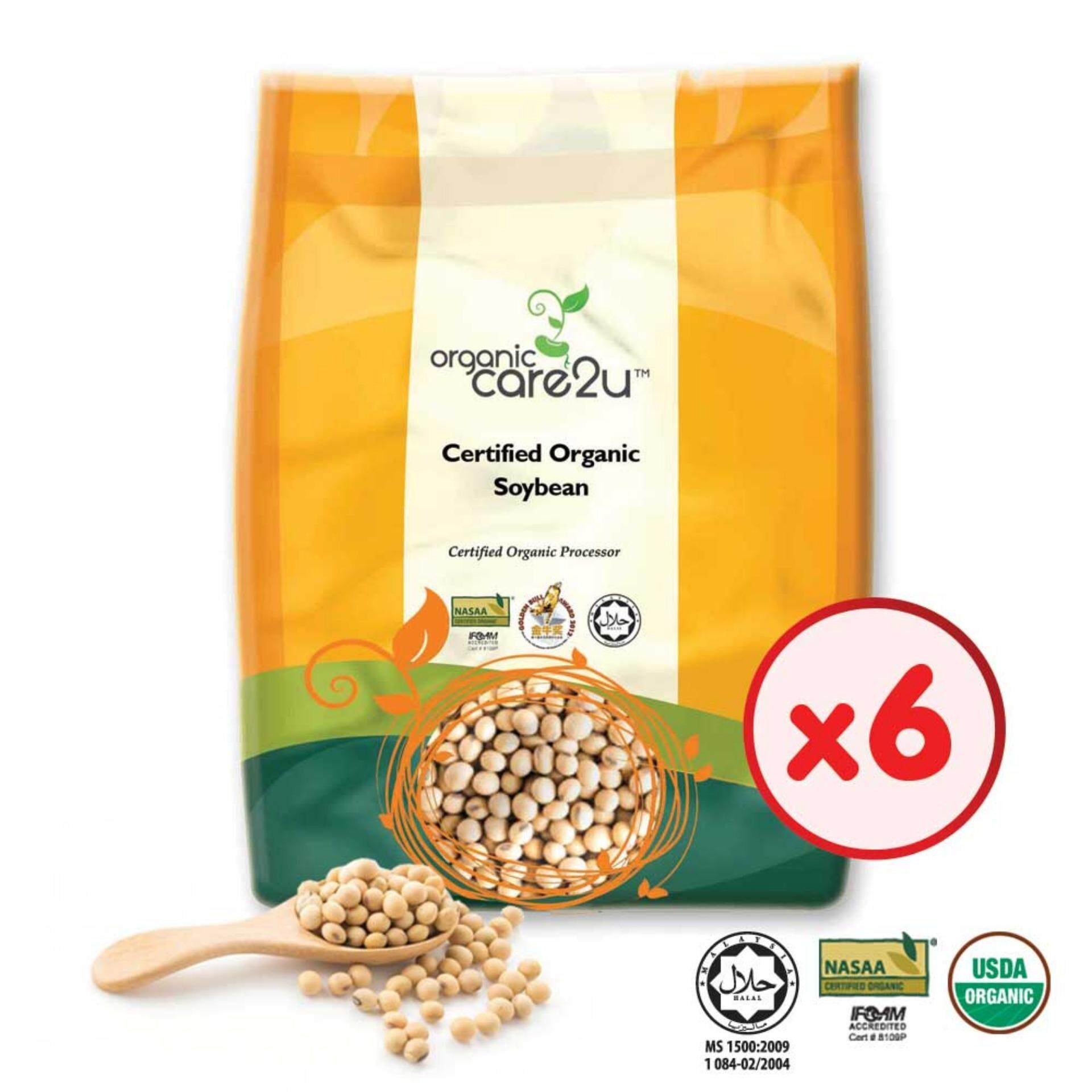 Organic Care2u Organic Soya Bean (400g) - [Bundle of 6]
