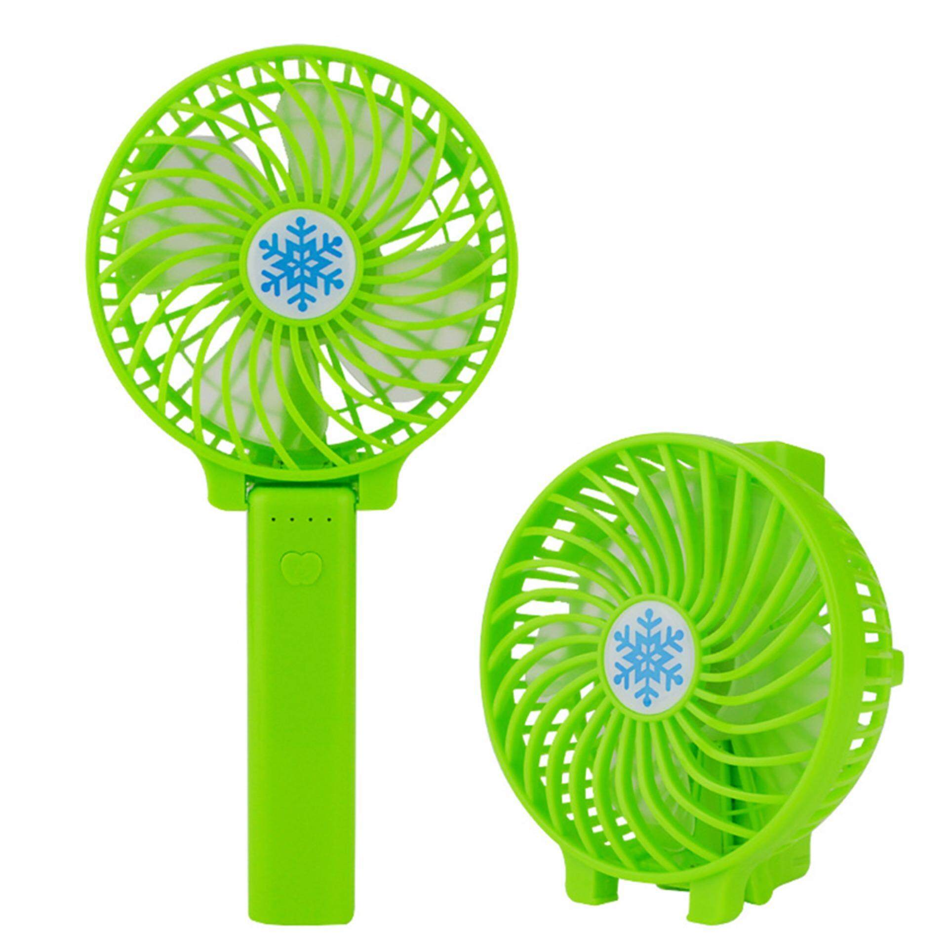 Features Two In One Pocket Fans Usb Gadget Portable Summer Micro Kipas Mini Fortable Foldable Fan Rechargeable Dual Power Mode Handheld Cooling Fansgreen