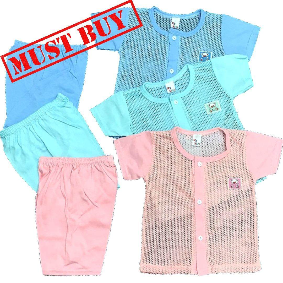 Bundle Wholesale !! 3 In 1 Price Eyelet Baby Casual wear (Fit to Age: 6-18Mth Mass:8-12kg Height:69-80CM)