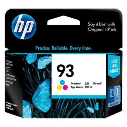 HP 93 Tri-color Inkjet Print Cartridge (C9361WA)