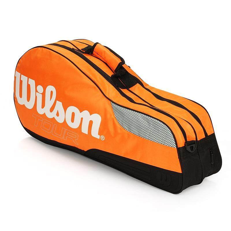 Club Line 4 Racquet Bag Tennis Bag Shoulder 4 Pack Tennis Racket Bag - Intl By No Sleep.