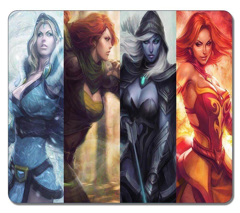 Customized Non-Slip Large Textured Surface Water Resistent Mousepad Dota 2 Lina Windrunner Drow Ranger Crystal Maiden Heroine Game Durable Large Gaming Mouse Pads Oblong Mousepad - intl
