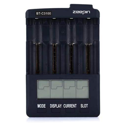 ZEEPIN BT - C3100 V2.2 4 SLOT LCD BATTERY CHARGER (PURPLISH BLUE)