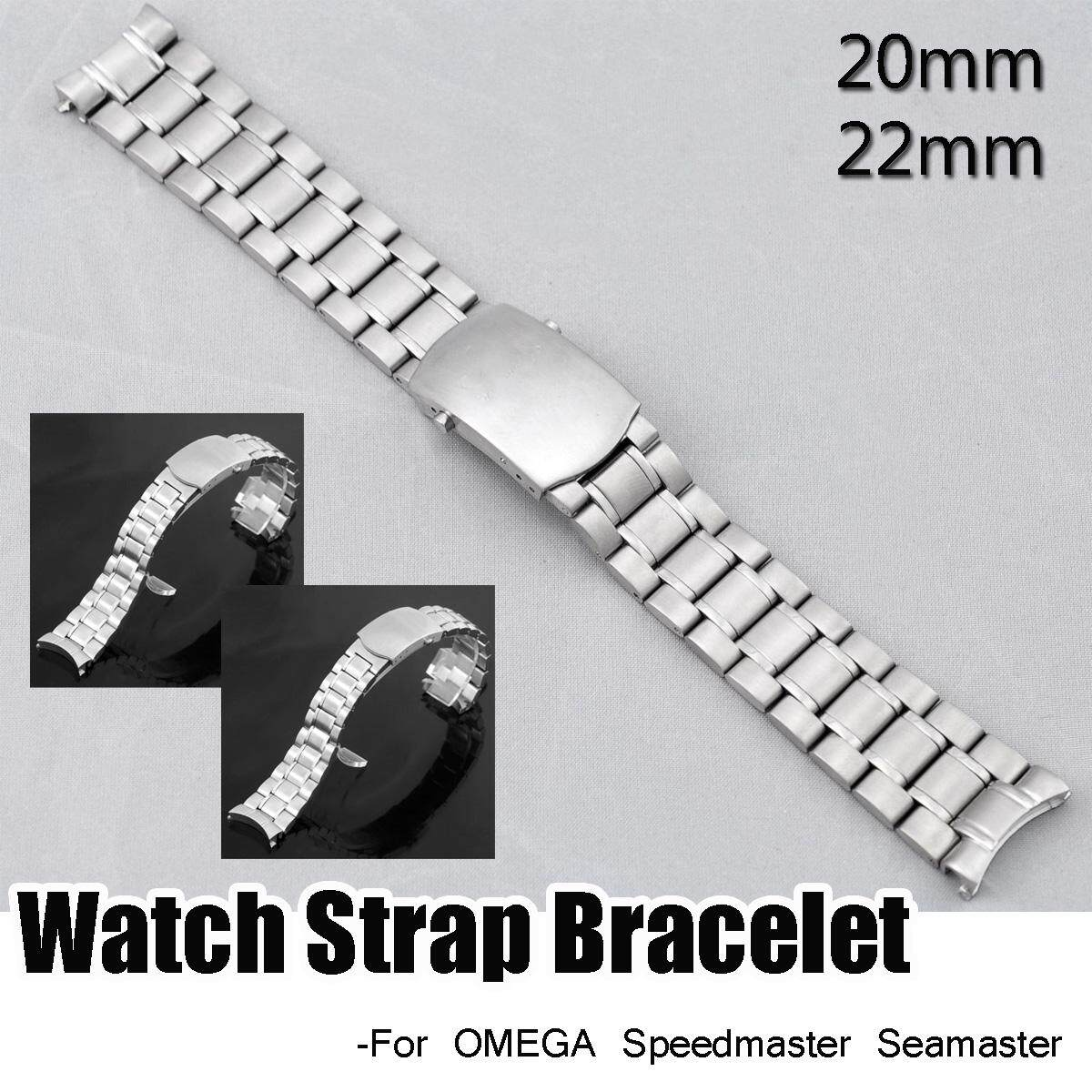 Pengganti S/Steel 22 Mm Tali Jam Gelang untuk Omega Speedmaster Seamaster-Intl