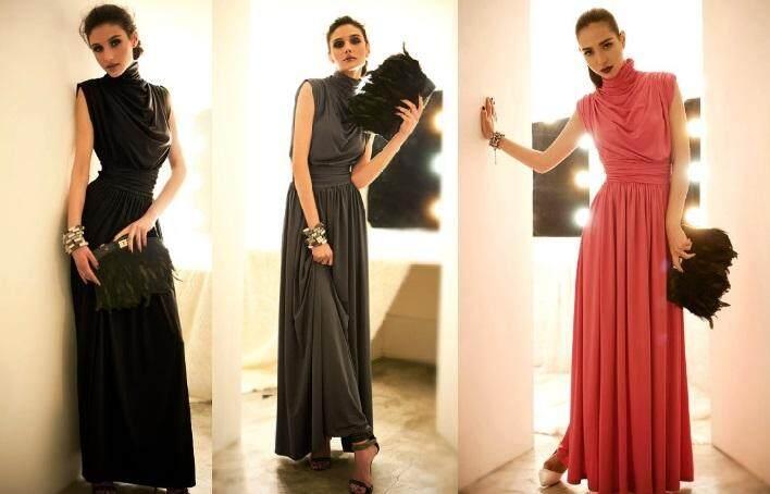 2ca27213e3d Turtle Neck Evening Dress Dinner Dress Maxi Dress Sleeveless Long ...