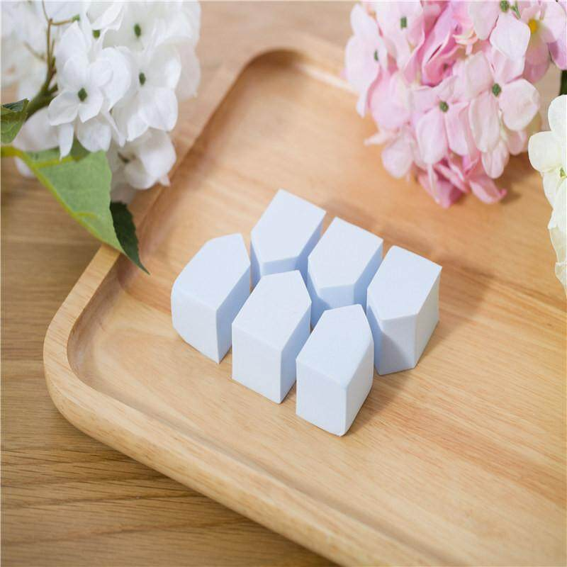 6PCS Beautiful Artisan Cosmetic Puff Light Blue