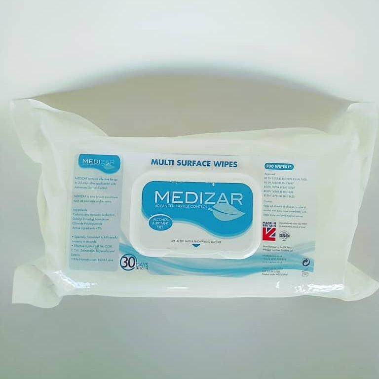 Medizar Advance Barrier Control Multi Surface Wipes 200s
