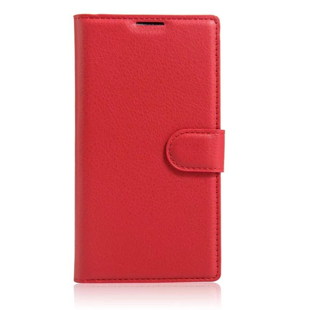 Leather Flip Cover Phone Case Wallet Card Holder For ZTE Blade S6 Lux / S6 Plus / Q7 - intl