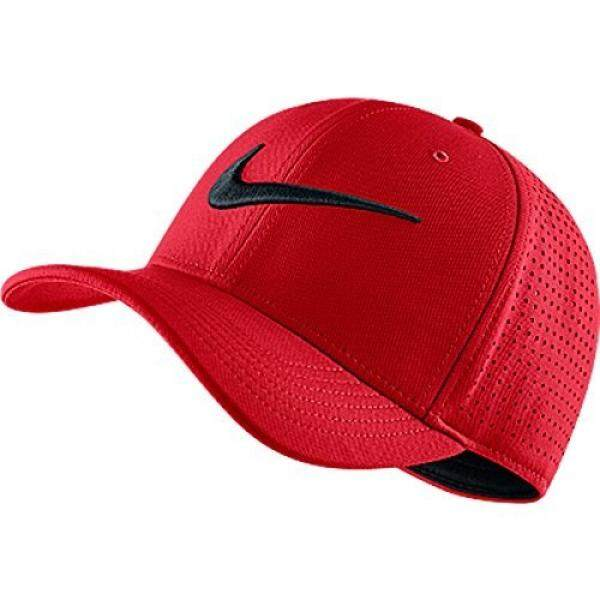 e7c9d365 ... new arrivals nike mens air vapor classic 99 fitted dad hat university  red black 803933 657