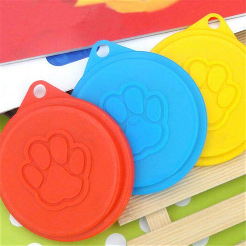 Dog Storage Top Cap Food Can Tin Cover Lid Pet Cat Puppy Food Can Lid Reusable Pet Supplies Random Color - Intl By Milumilu.