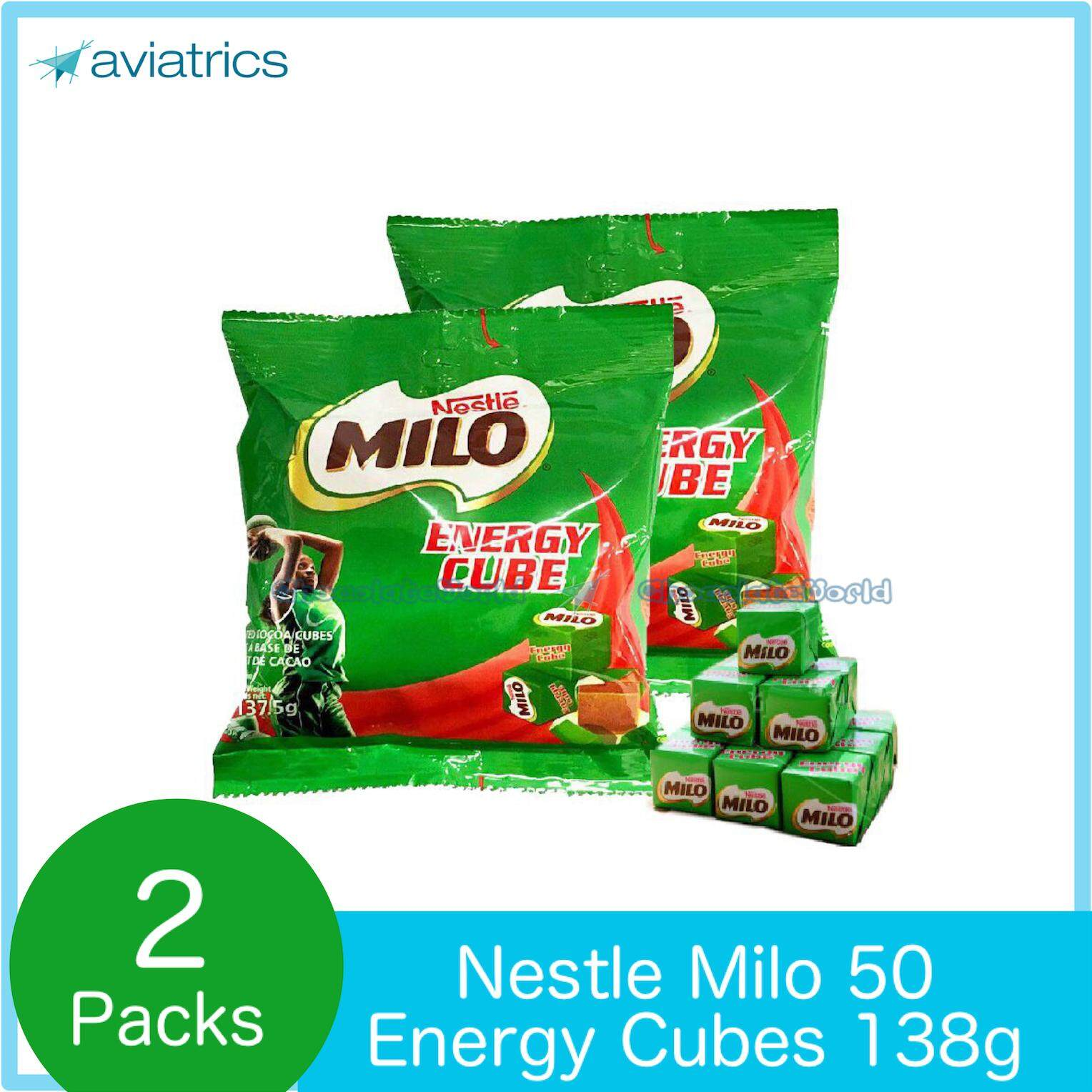 Milo Energy Cube 50pc 138g X 2