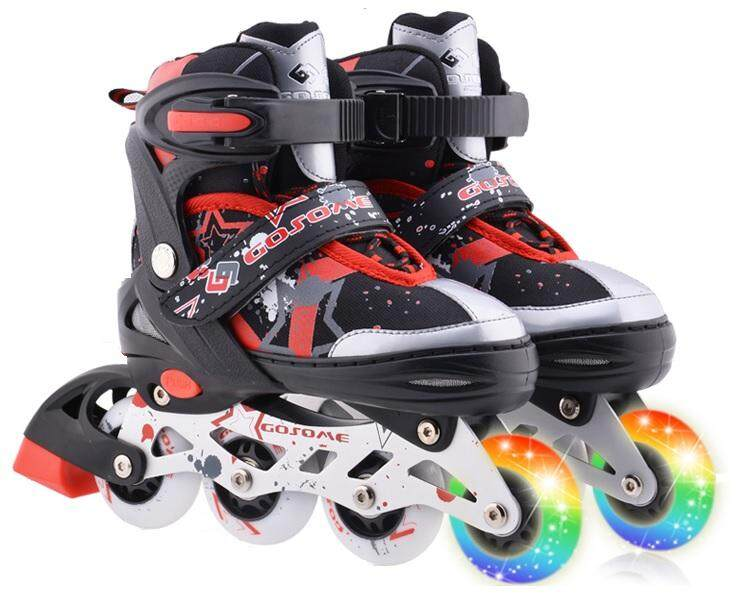Rollerblade Inline Skate Gosome + All PU Wheels Adjustable Shoe Size Kasut  Roda Red 26e3998d14