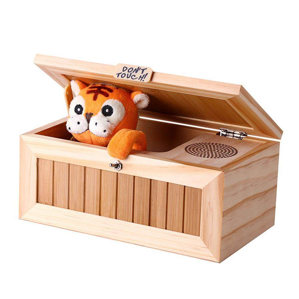 xudzhe Funny Don't Touch Useless Box Fully Assembled Leave Me Alone Machine Box (Tiger) - intl