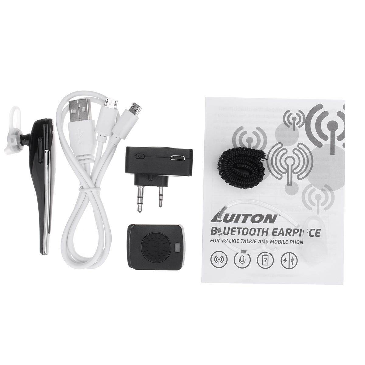 Bluetooth Wireless Headset K Type Hands-free Earphone for Baofeng Two Way Radio - intl