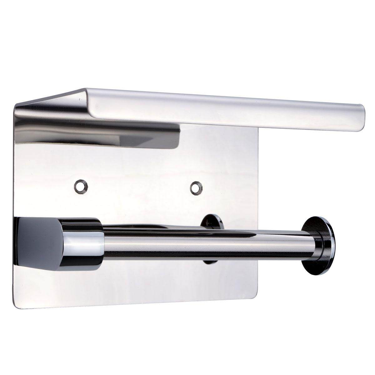 Stainless Bathroom Accessory Wall Mounted Toilet Paper Roll Holder Top Shelf - intl
