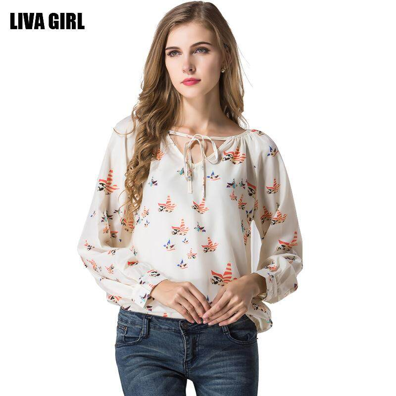 f02ee4806f5a Summer Boho Chiffon Tee Shirt Femme Fashion Floral Print Women Casual  T-shirt Puff Long