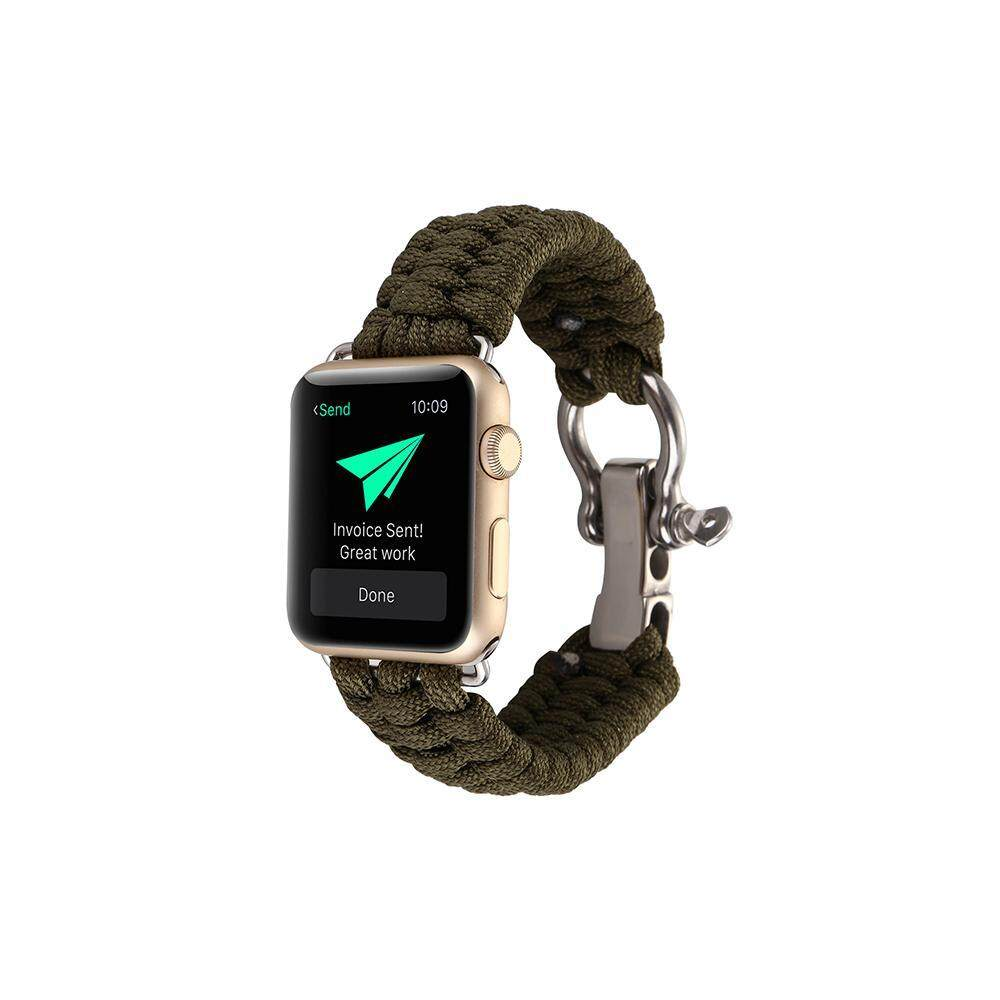 huiying 38MM/42MM Watch Band for Apple Watch, Paracord Woven Nylon Rope Straps Outdoor Survival Watchband Bracelet Fashion Replacement Wristband for Apple Watch IWatch Series 1 2