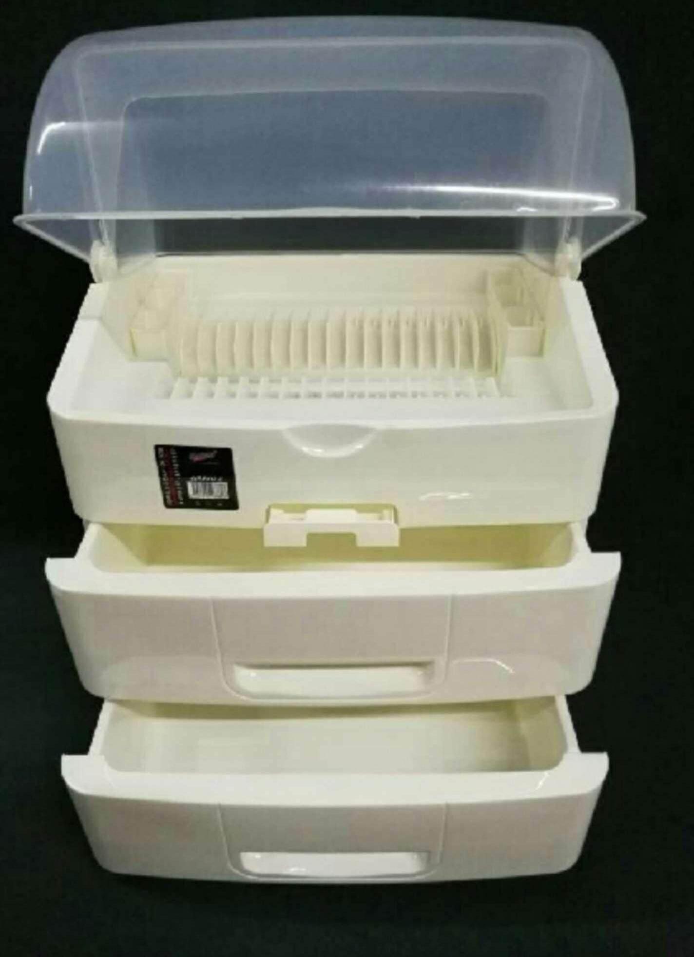 ... Century 3 tier Dish Drainer Drawer/Dish Rack/Cutlery organizer/Rak Pinggan/