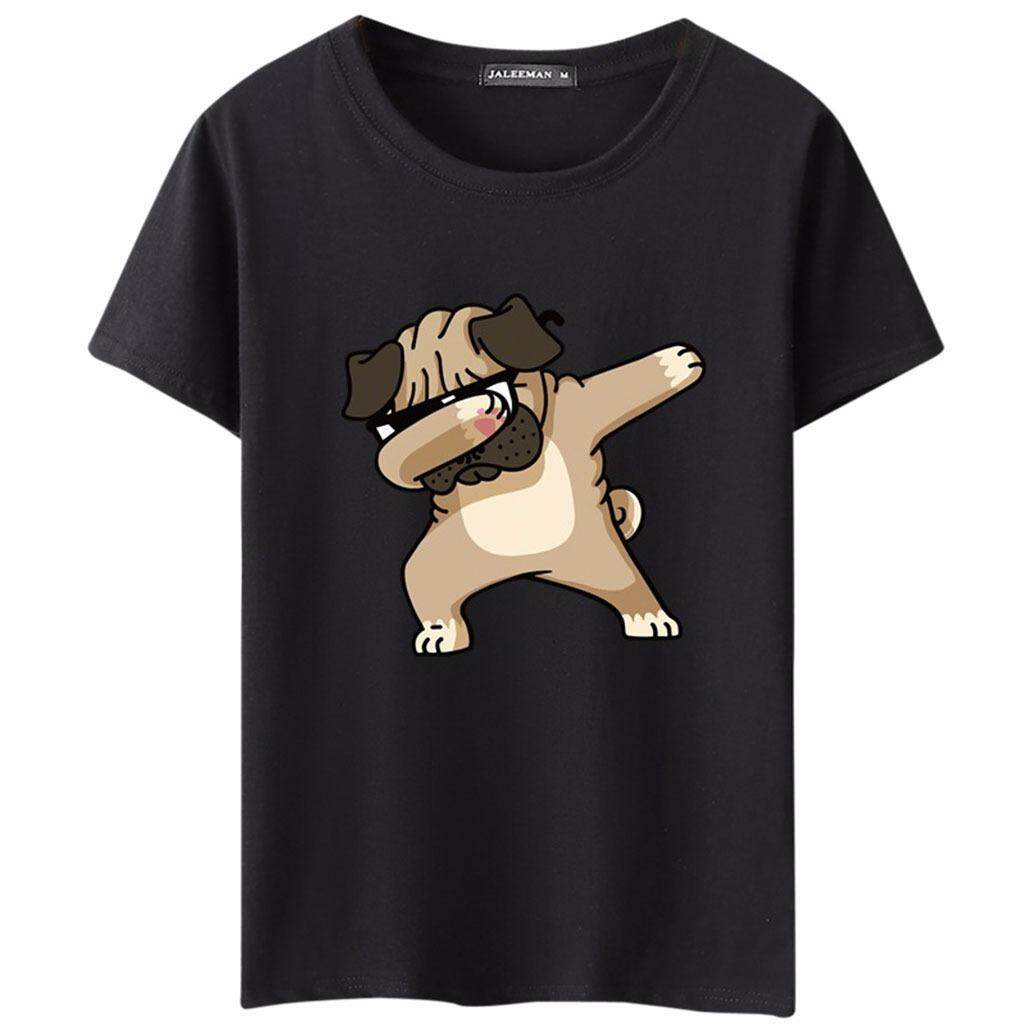 56dc32e0a Men Dogs Animal Cartoon Printed T Shirts Summer Casual High Quality Hipster  Top - intl