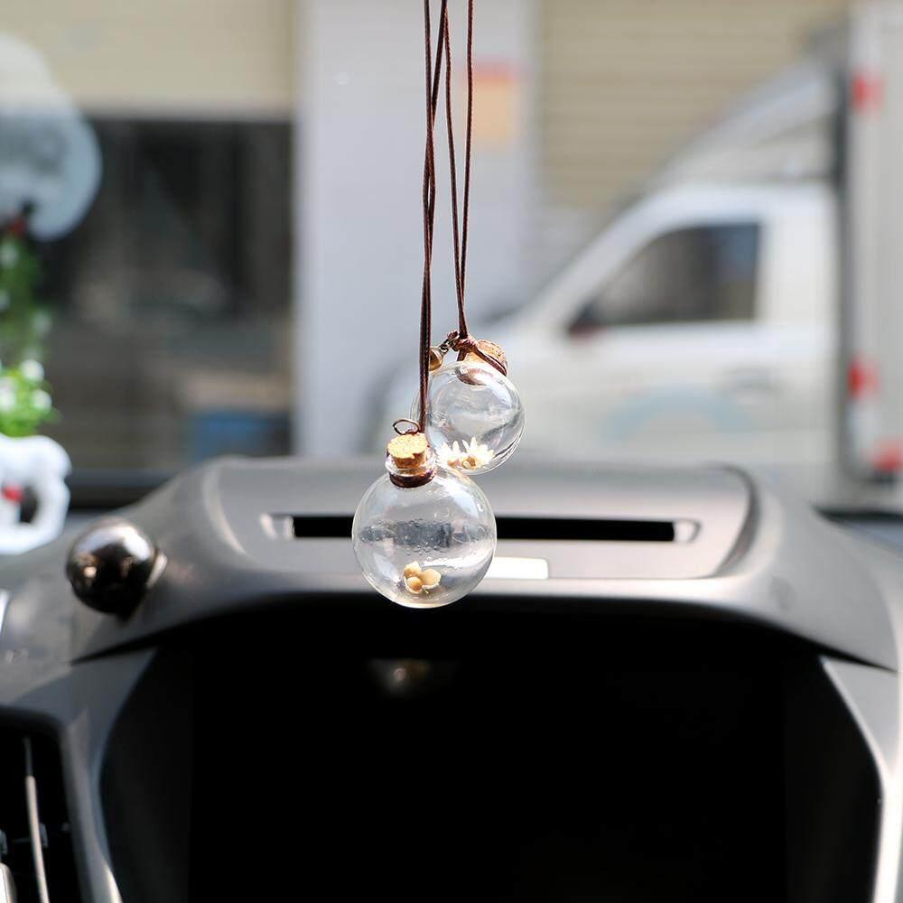 Fitur Tutup Kayu Mobil Botol Parfum Liontin Untuk Minyak Kosong Atsiri Udara Penyejuk Gantung Otomatis