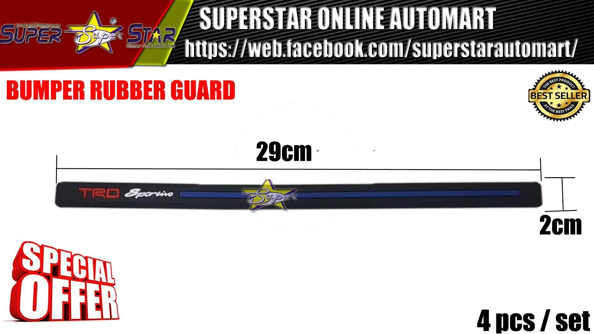 BUMPER RUBBER GUARD TRD (BLUE LINE)
