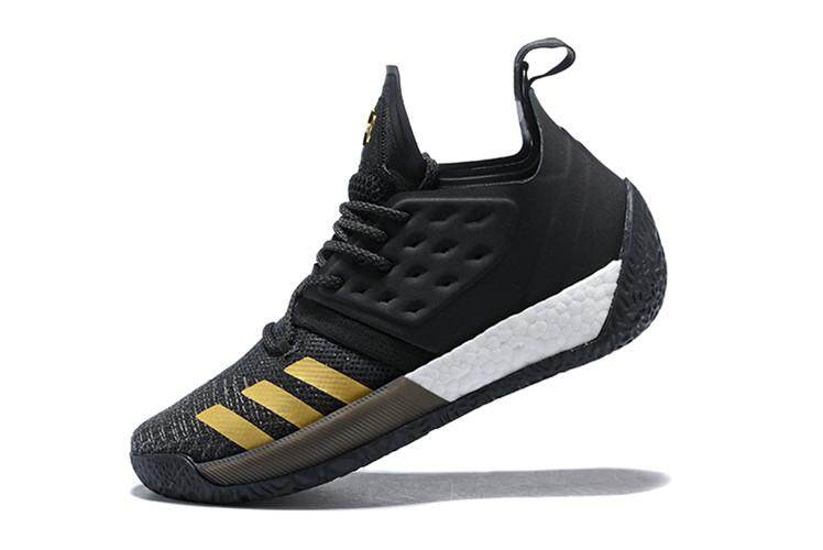 Men's Offical Elite Sneaker Sport Shoe Black Gold Low Top NBA Basketball Shoe Houston Rockets #13 James Harden Harden Vol. 2 Breathable Comfortable Slip Resistant Size:40 - intl
