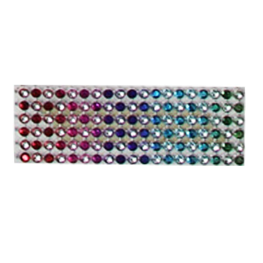 LumiParty Diamond Rhinestone Ribbon Wrap Bulk 4.6 inches width,Wedding Party Decorations Color:Seven color Size:10 yards - intl