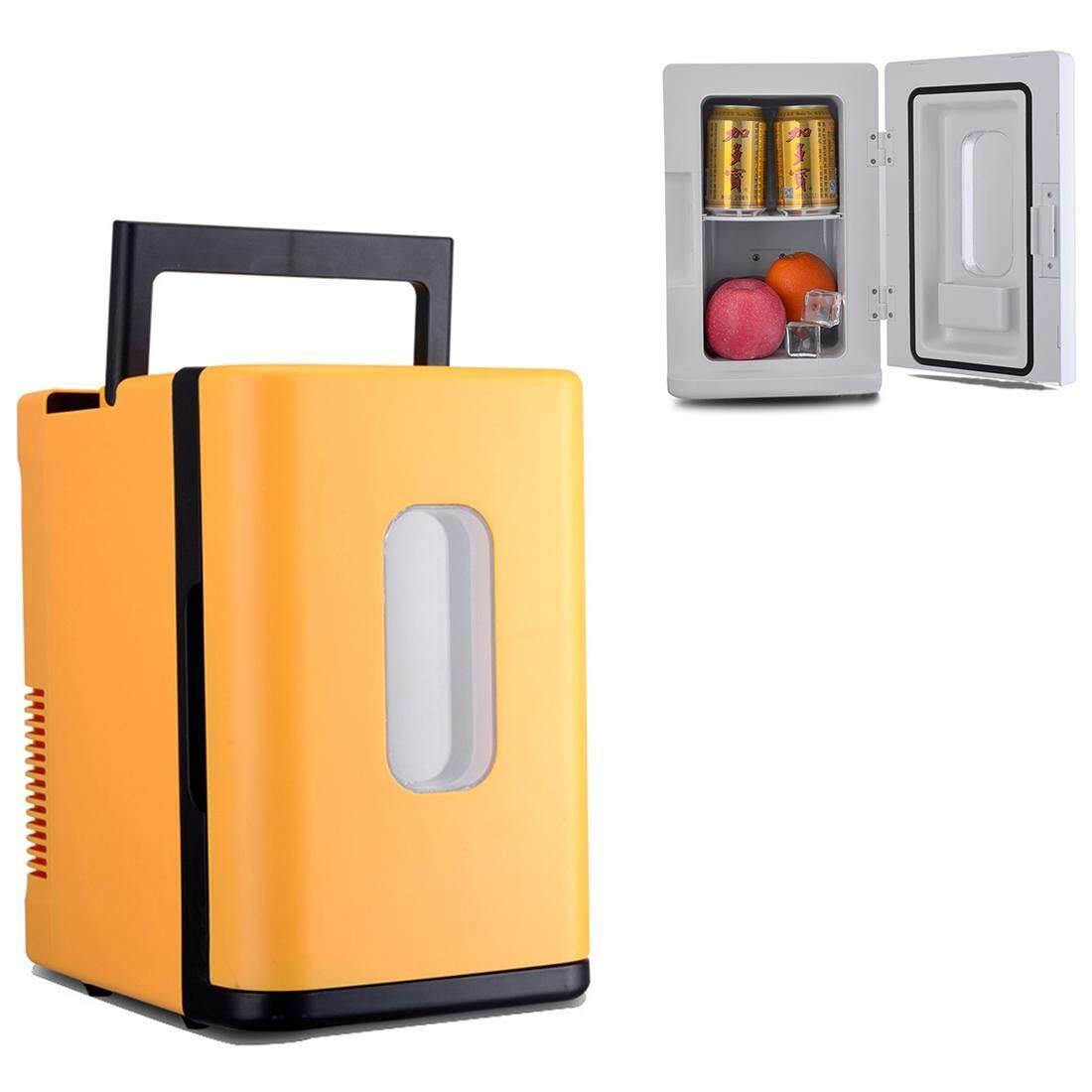 Vehicle Otomatis 68 W Maksimum Portabel Mini Cooler dan Lebih Hangat 10L Kulkas untuk Mobil dan Rumah, Tegangan: DC 12 V/AC 220 V (Kuning)-Internasional