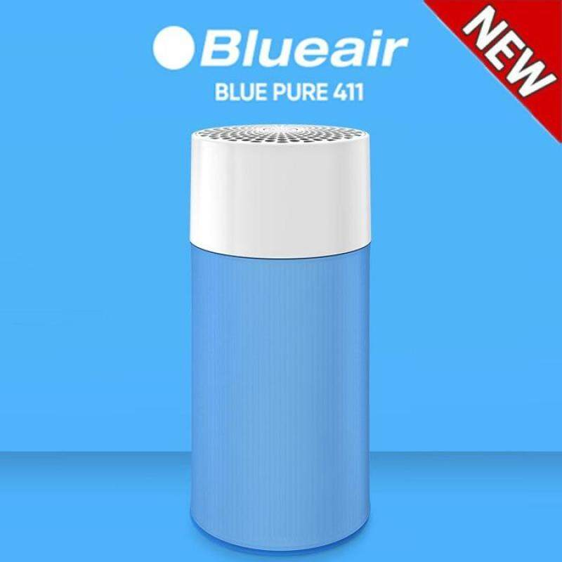 Blueair Blue Pure 411 Air Purifier with Particle and Carbon Filter for Allergen and Odor Reduction, Washable Pre-Filter, Small Rooms, by Blueair - intl Singapore