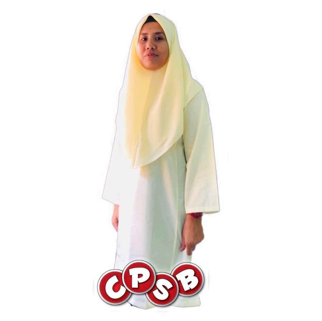 Price List Secondary School Baju Kurung Cream (Cotton) Terbaik