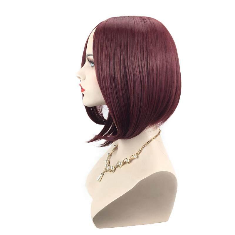 Wanita Cosplay Miring Poni Panjang Ikal Keriting Rambut Wig Berwarna Kuning Muda Source Produk