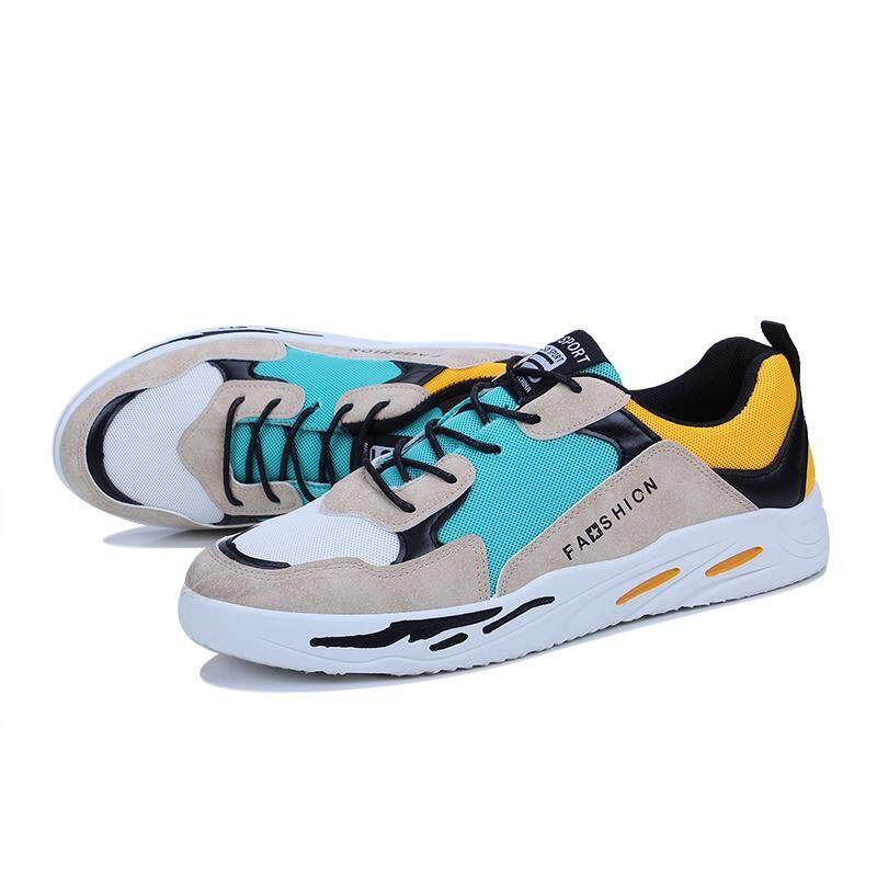 Musim Panas Modis Sneakers Sport Sepatu Lari Luar Ruangan untuk Pria Kuning- e3c6f6e89e