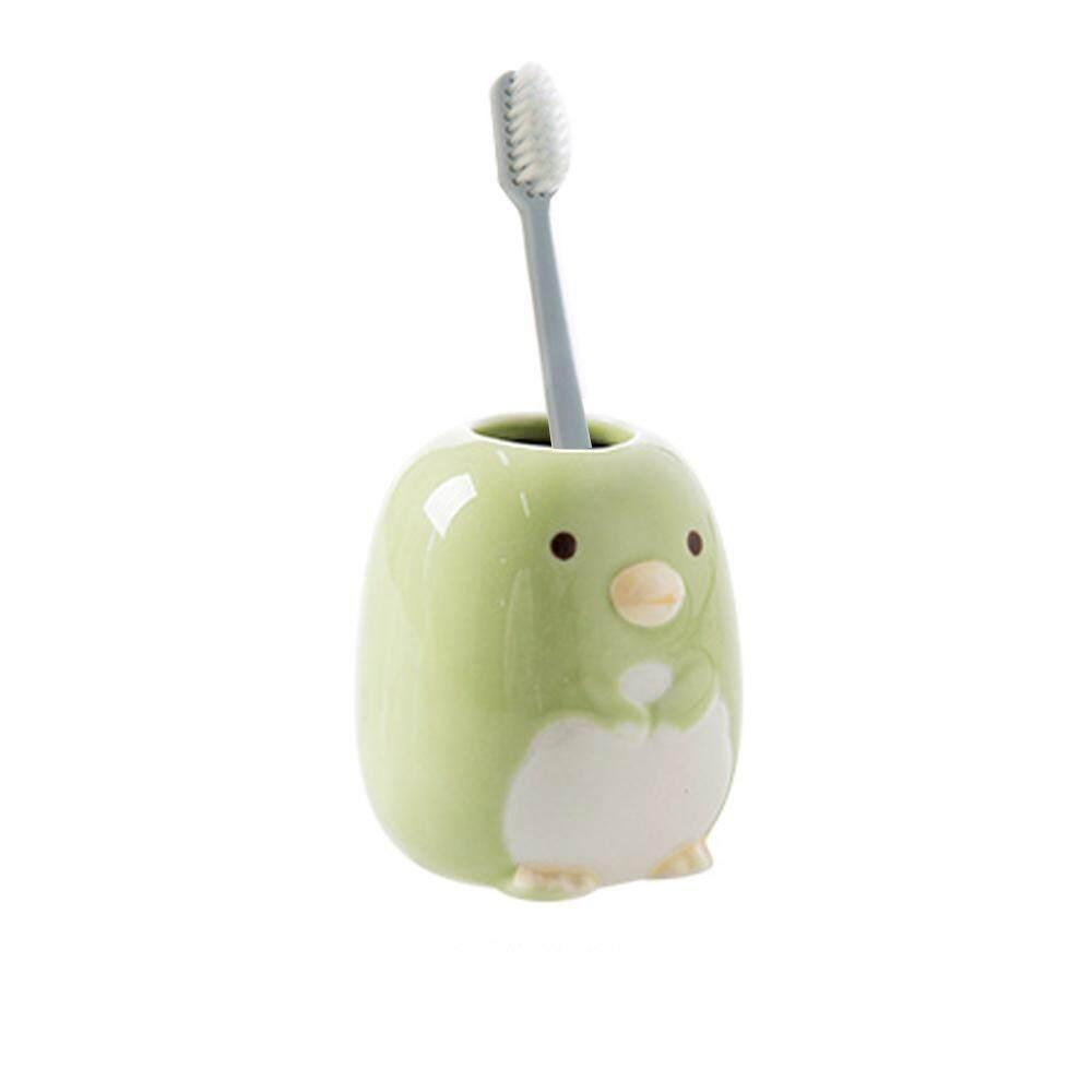 Leegoal มินิผู้ถือแปรงสีฟัน/เซรามิคฟันแปรง/ห้องน้ำจัดเก็บข้อมูล - นานาชาติ.