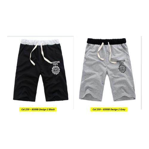 (Pre Order ETA End Feb 2021 CNY Break)(Pre Order ETA 14/2) Korean Style Men Casual Short Pants Collection 259-8399B Design 2 (Grey)