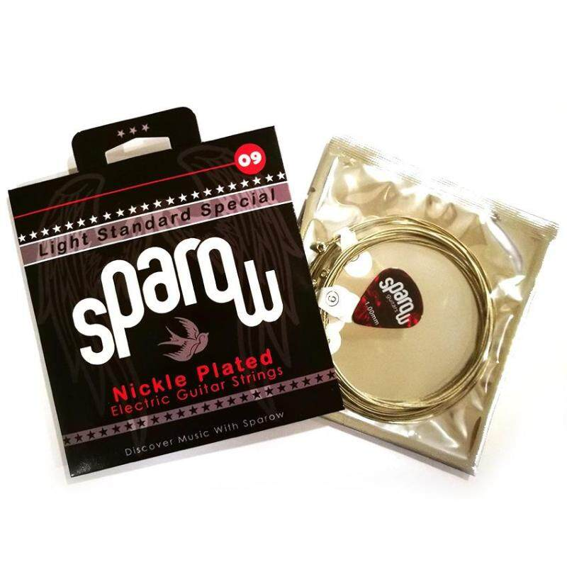 1 Set Sparow Strings For Electric Guitar + free 1 pick ( 6 x strings 09 - 42 ) Malaysia