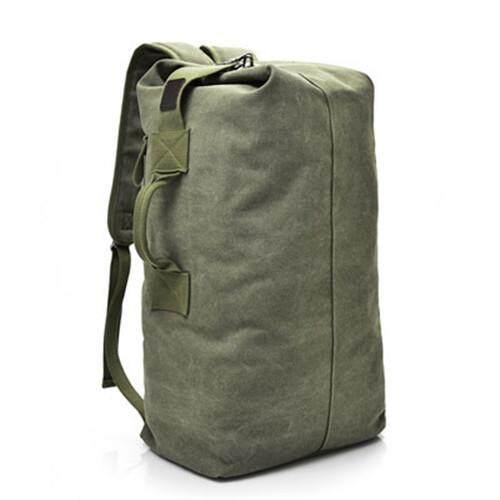 7799741db93 Large Capacity Men Canvas Sport Backpack Outdoor Bucket Backpack - intl