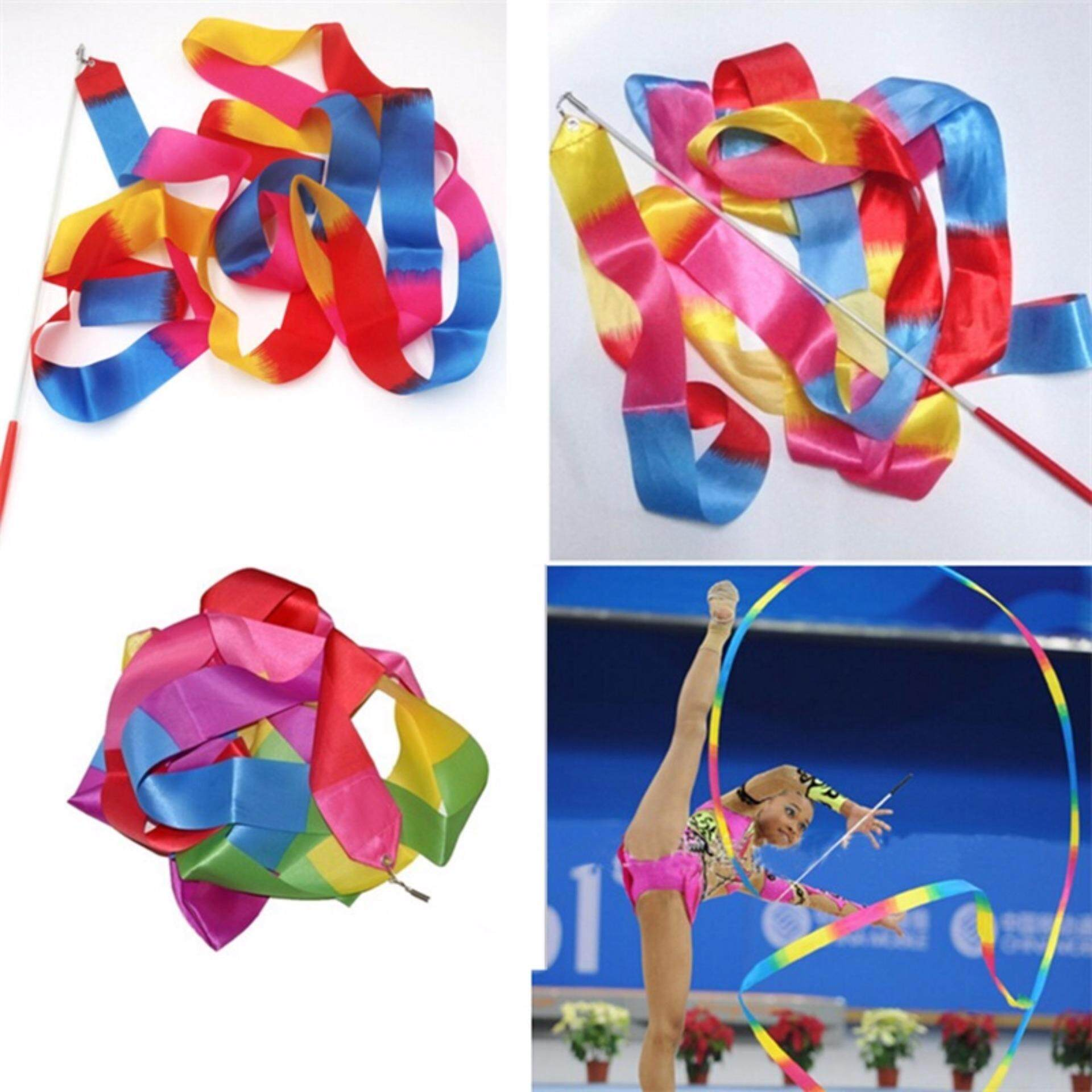 f4d95e0129 4m Kids Dance Ribbon Gym Rhythmic Art Gymnastic Ballet Streamer Twirling Rod