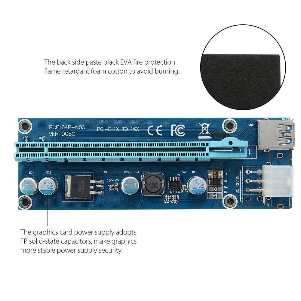 Kelebihan Amart 6 Gpu Mining Motherboard 6pcs Pci E Extender Riser Rak Untuk Card For Btc Eth